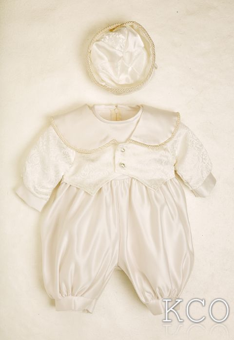 Regal Brocade Romper Ivory~ Boys Suits